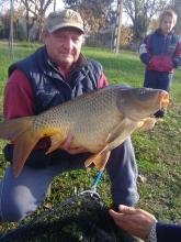 Boros László 15,6 kg-os ponty 2013. november 16.